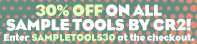 Cr2 Sample Tools  30% off